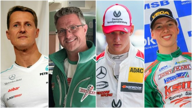 Michael, Ralf, Mick y David Schumacher.