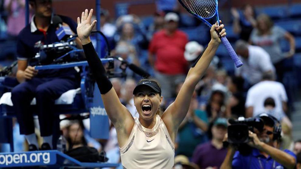 María Sharapova (30) celebra su triunfo en el US Open