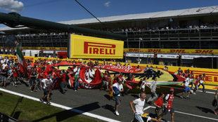 Fans en Monza.