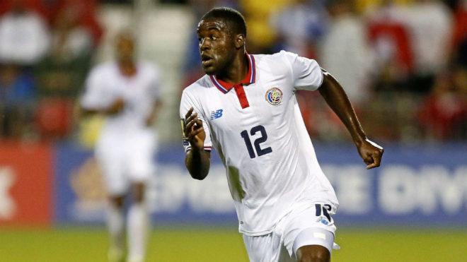 Joel Campbell, en un partido con Costa Rica.