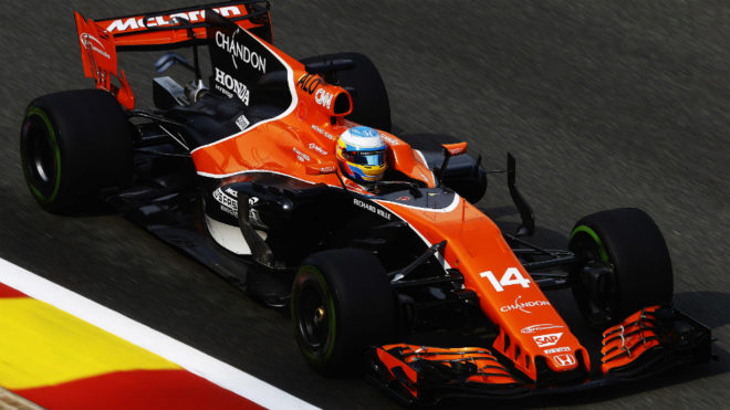 Fernando Alonso, en Spa.