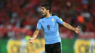 Luis Suárez, en una imagen de archivo, con su selección