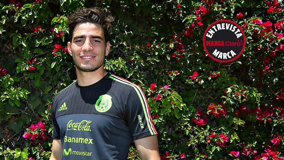 Antonio Briseño, en una concentración con la selección mexicana.