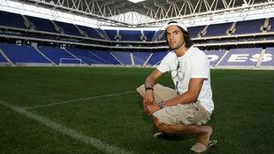 Sergio S�nchez, en el RCDE  Stadium.