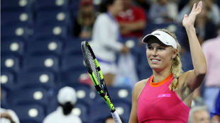 Caroline Wozniacki jug� en una cancha secundaria contra Ekaterina...
