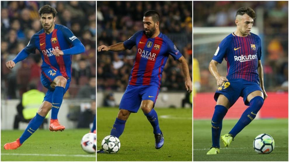 André Gomes, Arda Turán y Munir no han salido del Barça