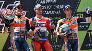 El podio del GP de Catalunya