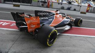 Fernando Alonso, en el circuito de Monza