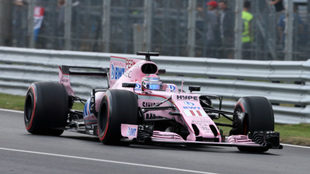 Sergio P�rez, en el circuito de Monza