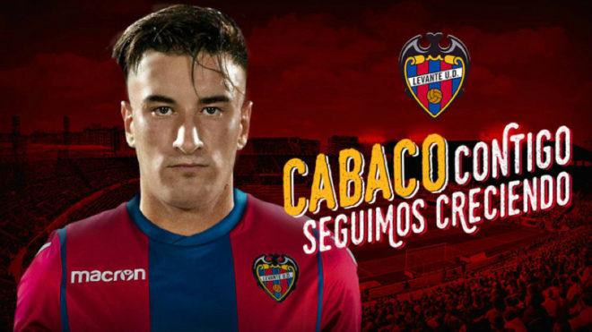 El Levante ha anunciado a Cabaco con este fotomontaje.