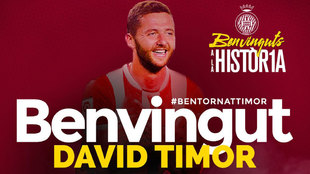 David Timor, nuevo jugador del Girona.