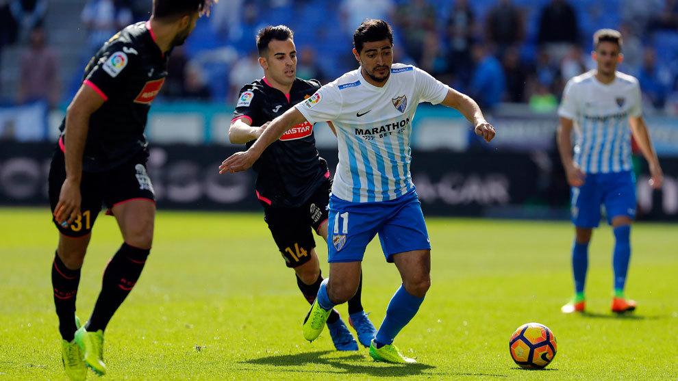 Chory Castro, durante el partido ante el Espanyol de la Liga pasada en...