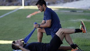 Serantes (27), en una sesi�n de entrenamiento en agosto pasado