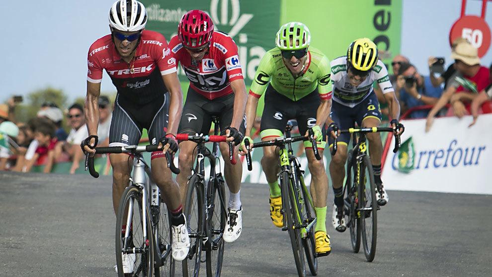 Contador ataca a Froome en la Vuelta