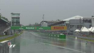La lluvia, arreciando en Monza