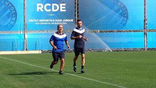 Darder se entrena en las instalaciones del Espanyol