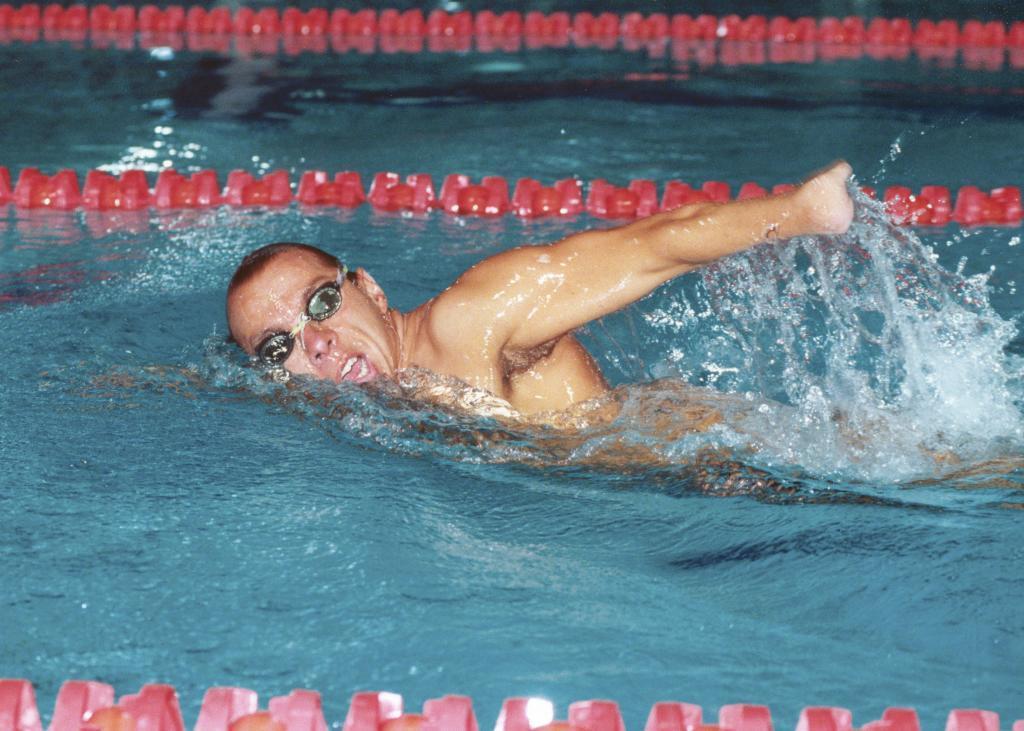 Xavi Torres compitiendo en los Juegos Paralímpicos de Barcelona 92.