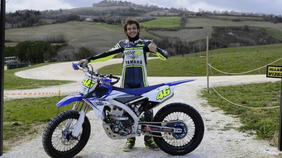 Valentino Rossi, cerca de su Ranch.