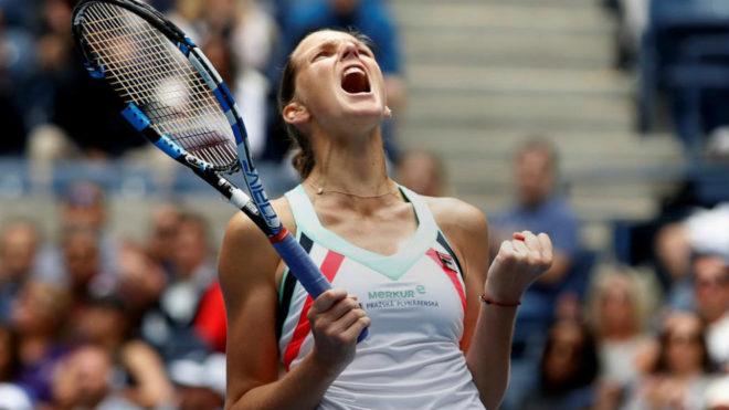 Karolina Pliskova celebra su triunfo.