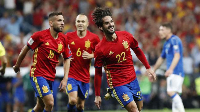 """3-0: ისკომ იტალიასთან ისეირნა, ესპანეთმა """"სკუადრა აძურა"""" გაანადგურა"""