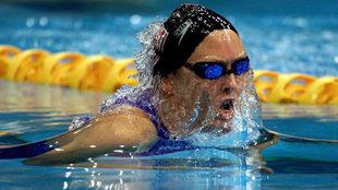 La nadadora estadouniense Trischa Zorn, en los Juegos de Barcelona 92.
