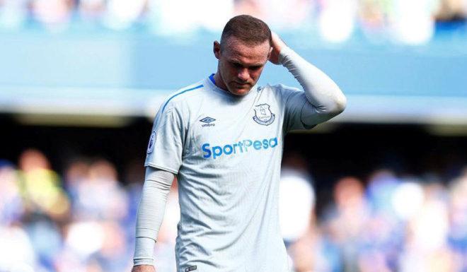 Rooney, en un partido con el Everton.