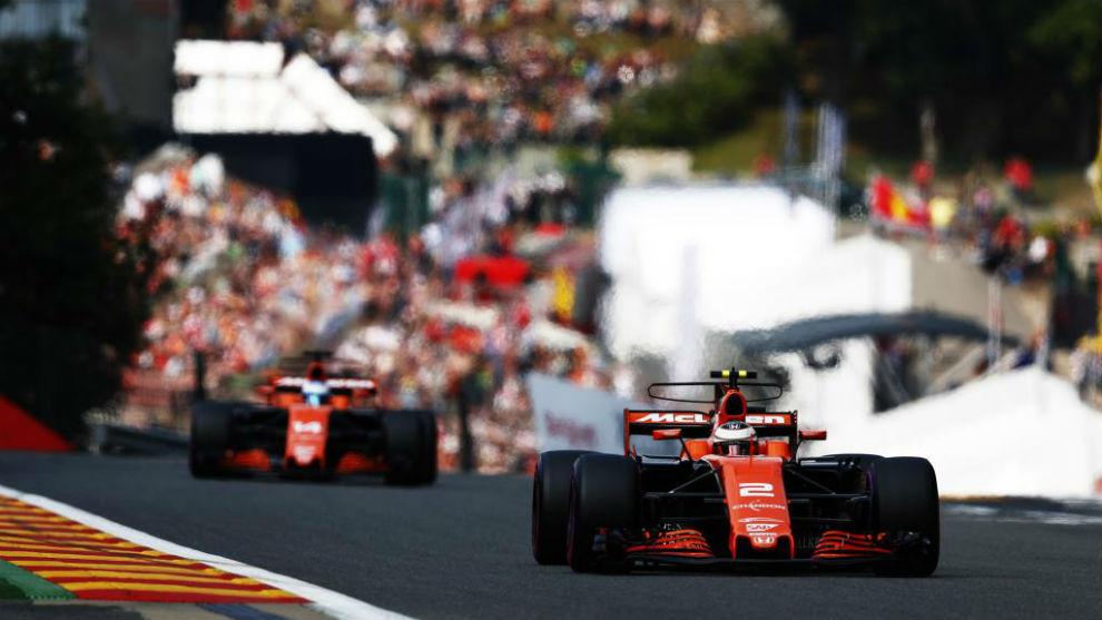 Stoffel Vandoorne y Fernando Alonso en Monza