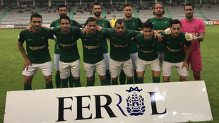 Jugadores del Racing de Ferrol.
