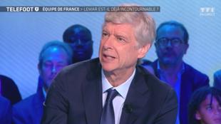 Arsène Wenger, en su participación en el programa Téléfoot