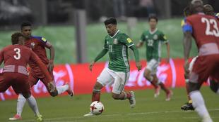 Vela (28), en el partido entre las selecciones de México y Panamá