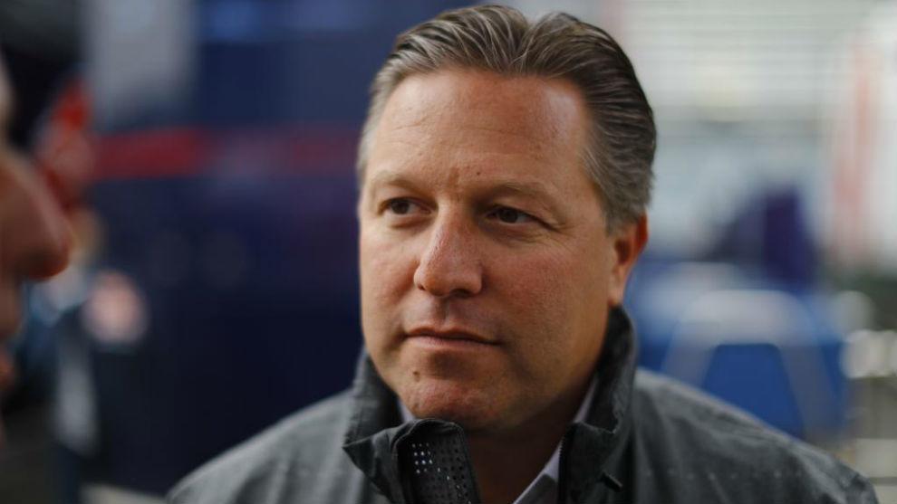 Zak Brown, director ejecutivo de McLaren Group, en Monza