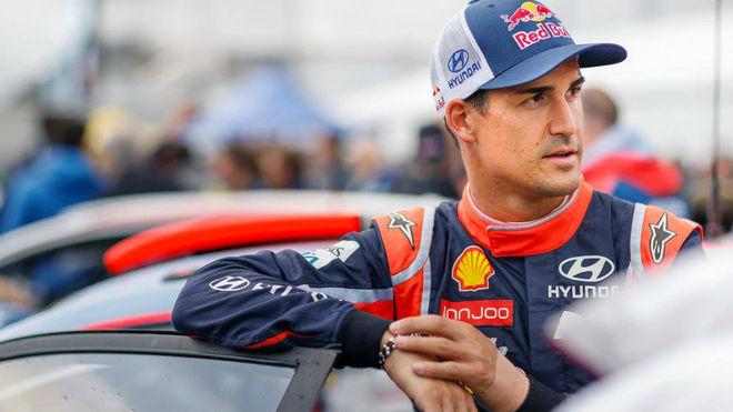 Dani Sordo, durante el pasado Rally de Alemania.