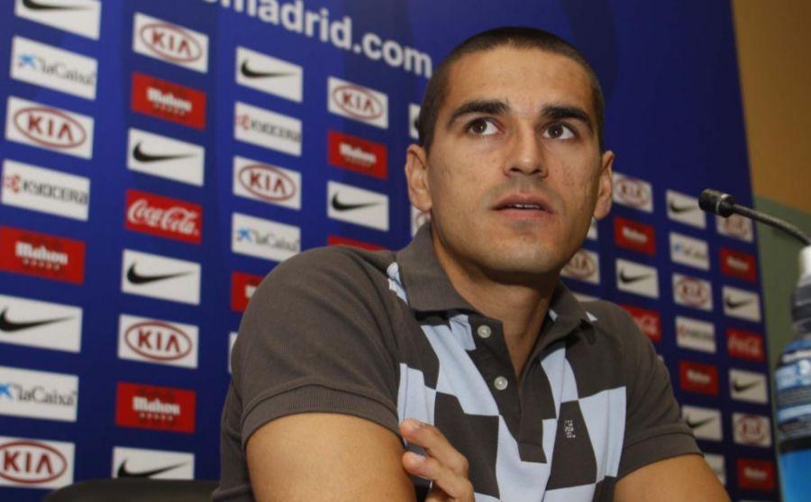 Juanito en su etapa con el Atlético