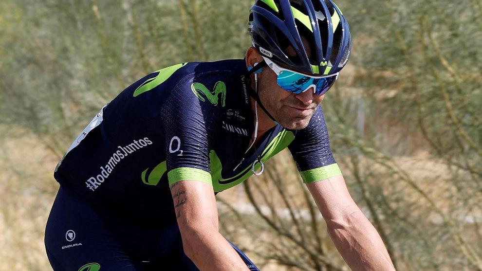 Jasó Joaquín Rojas durante la etapa 18 de la Vuelta.