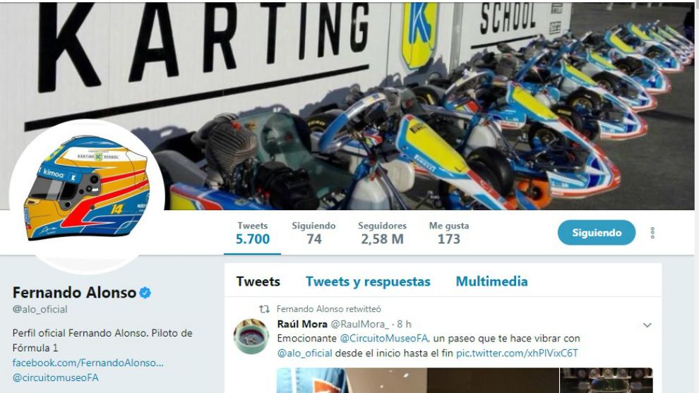 La nueva imagen de Alonso en twitter prescinde de referencias a...