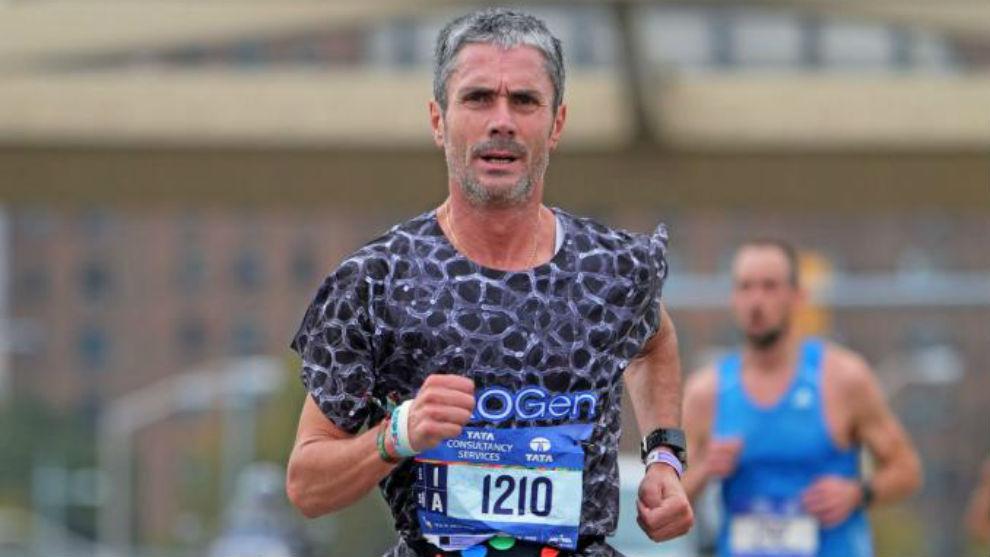 Martín Fiz, en el Maratón de Nueva York.