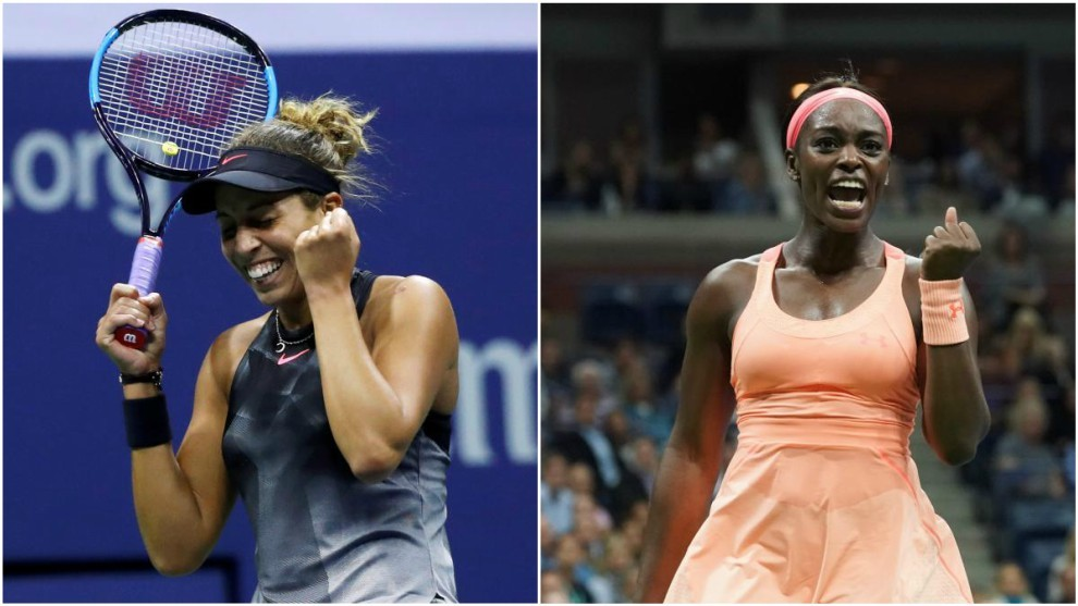Madison Keys (22) y Sloane Stephens (24), las finalistas del Abierto...