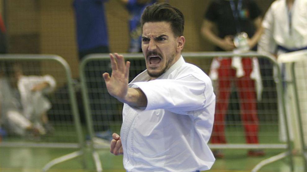 Damián Quintero, en un combate.