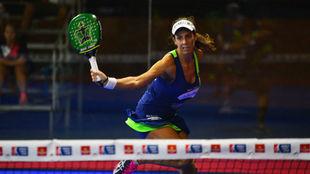 Marta Marrero durante su partido de cuartos de final.