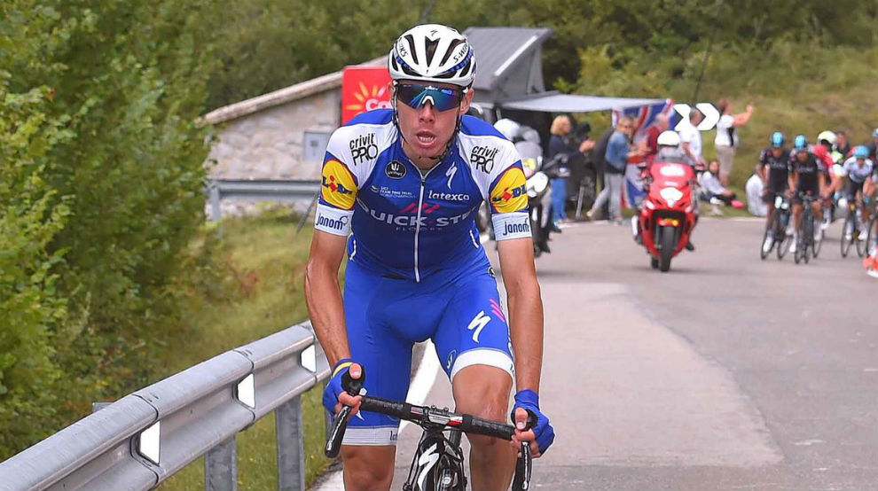 David de la Cruz durante la Vuelta a España.
