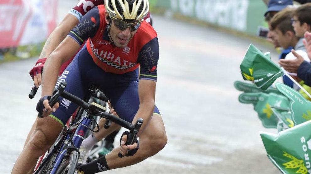 Vincenzo Nibali durante la Vuelta a España.
