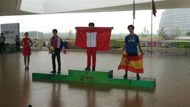 El representante español, Enrique Rubio, ha ganado la medalla de...