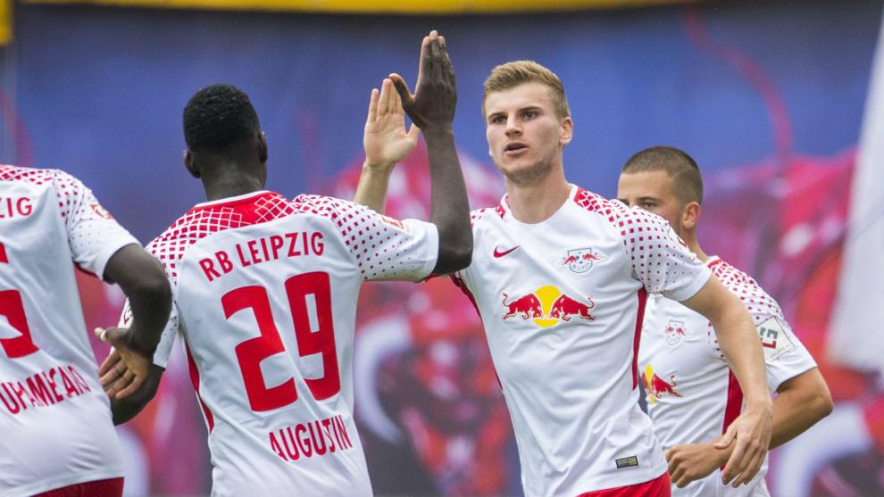 Timo Werner (21), celebrando un gol