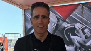 Miguel Induráin en la presente edición de la Vuelta a España.