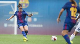 Marta Torrejón durante el partido ante el Fundación Albacete.