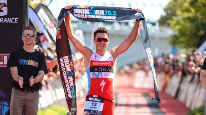Javier Gómez Noya, campeón del Mundo de Ironman 70.3 de Chattanooga