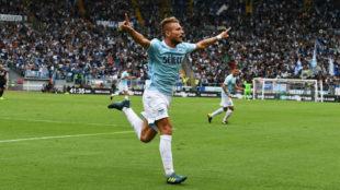 Ciro Immobile (27), celebra un gol anotado ante el Milan