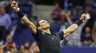 Nadal tras vencer a Del Potro en el US Open