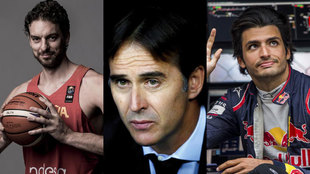 Pau Gasol, Lopetegui y Carlos Sainz