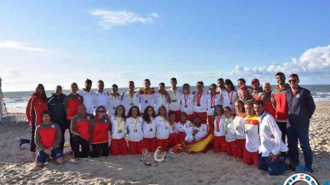 La delegación española a los Campeonatos de Europa de Salvamento y...